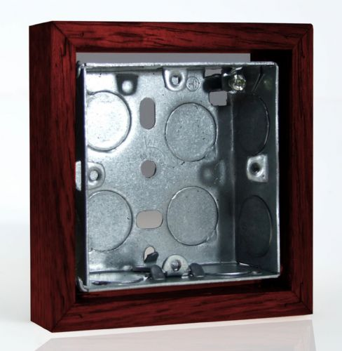 Varilight XKBOXSM Kilnwood Mahogany Surface Mounted Pattress Box Single 25mm